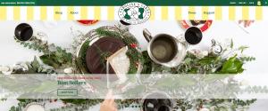 caroline's cake website frontpage