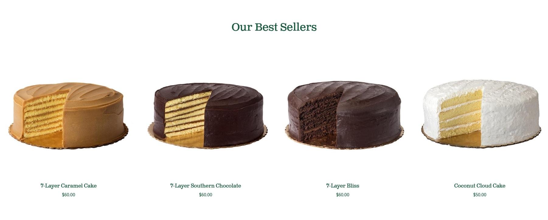Caroline's Cake Best Sellers