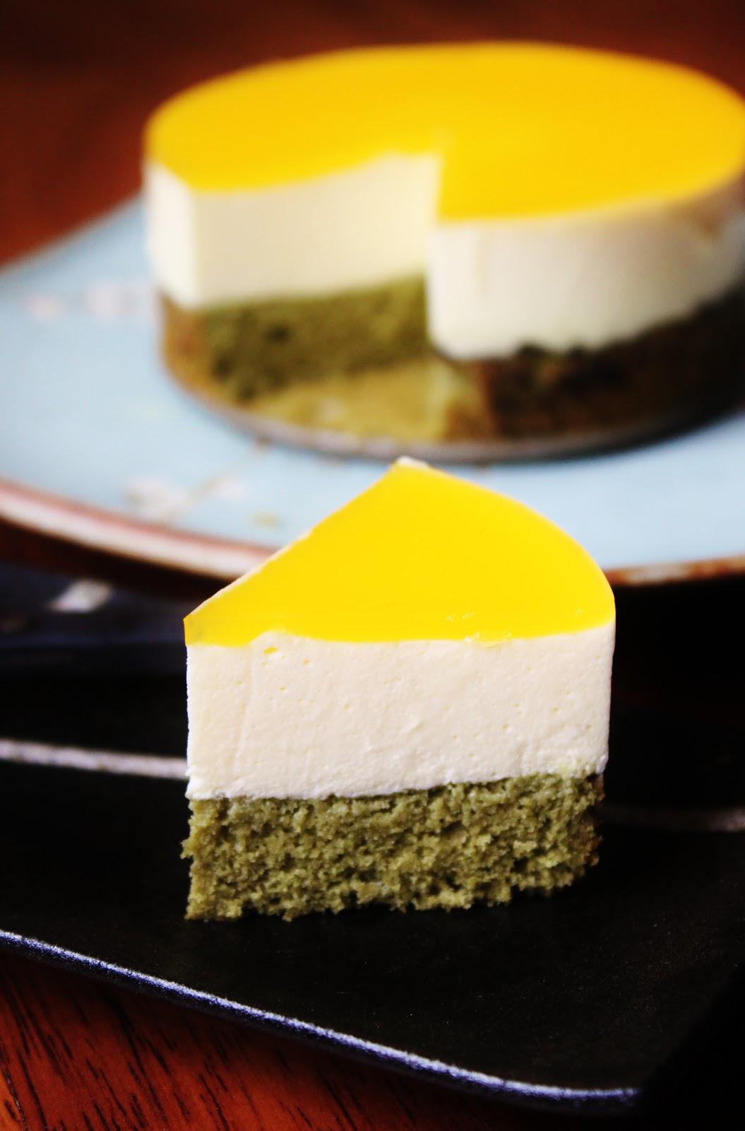 dominique ansel bakery - MATCHA PASSION FRUIT MOUSSE CAKE