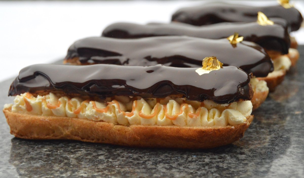 dominique ansel bakery - chocolate-and-salted-caramel-eclairs