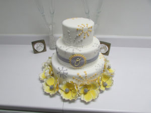 White wedding cake from Cake Plus