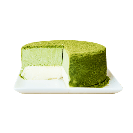 Keki Modern Cakes' fancy green tea cheesecake