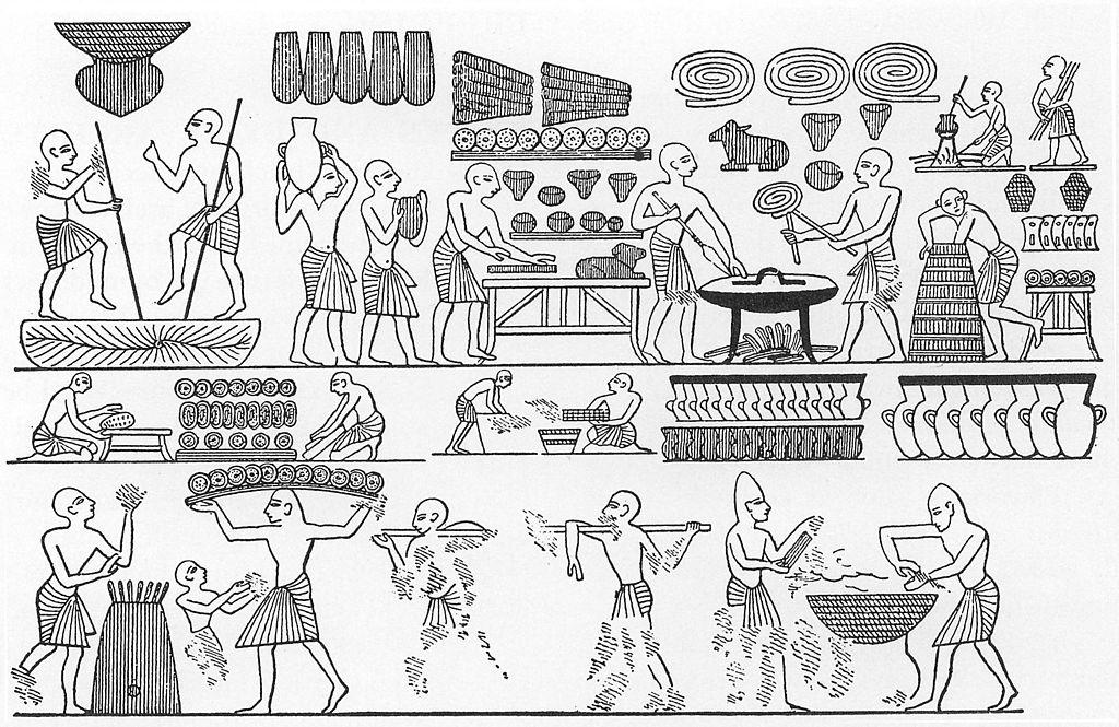 Court bakery of Ramses III from ancient Egypt