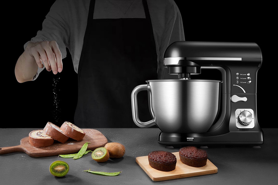 best stand mixer with a background of chef seasoned the food