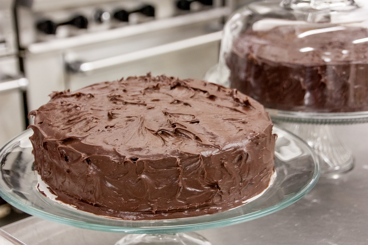 Chocolate cake unfinished frosting
